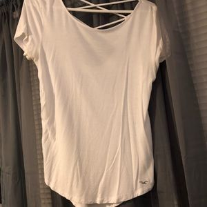 White Hollister Scrappy Back Shirt